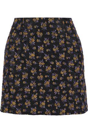 GOEN.J Quilted jacquard mini skirt