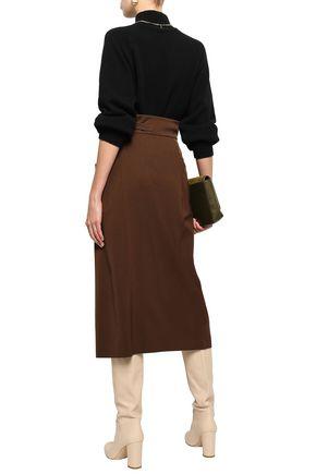 ALBERTA FERRETTI Virgin wool-blend midi skirt