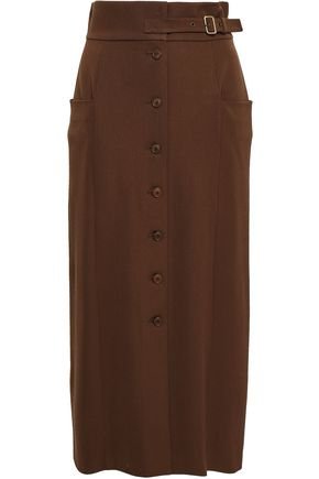 ALBERTA FERRETTI Virgin wool-blend midi skirt