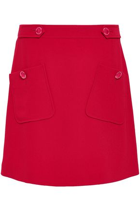 BOUTIQUE MOSCHINO Stretch-crepe mini skirt