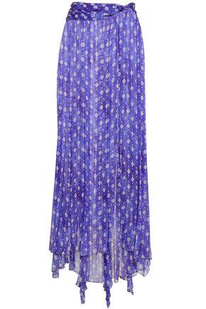 CAROLINE CONSTAS Printed silk and Lurex-blend maxi skirt