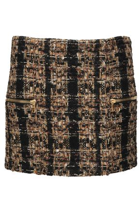 BALMAIN Bouclé-tweed mini skirt