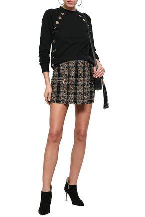 BALMAIN Bouclé-tweed mini skirt