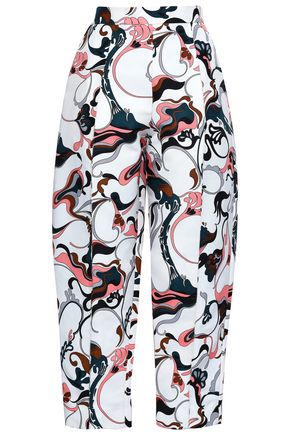 MARNI Printed crepe tapered pants