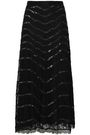 TEMPERLEY LONDON Sequined lace midi skirt