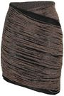 BALMAIN Asymmetric metallic knitted mini skirt