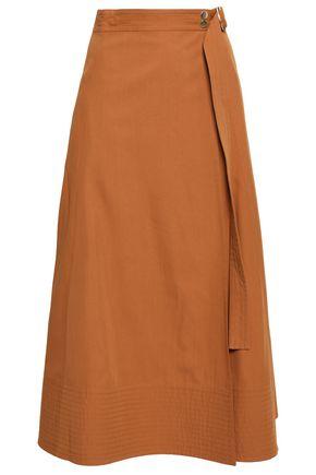 VANESSA BRUNO Ikla wrap-effect cotton-blend twill midi skirt