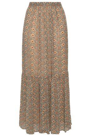 VANESSA BRUNO Jupe floral-print georgette maxi skirt