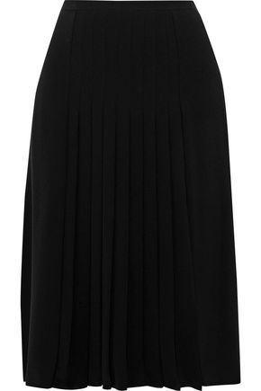 MAX MARA Biella pleated crepe skirt