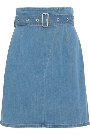 J BRAND Belted denim mini skirt