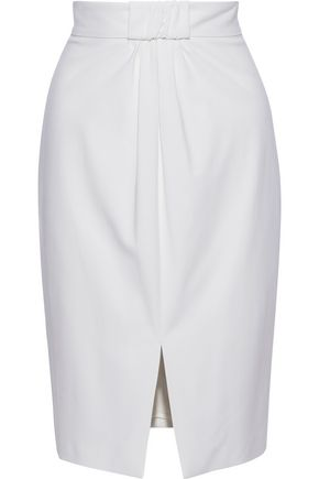 MAX MARA Angus gathered wool-blend pencil skirt