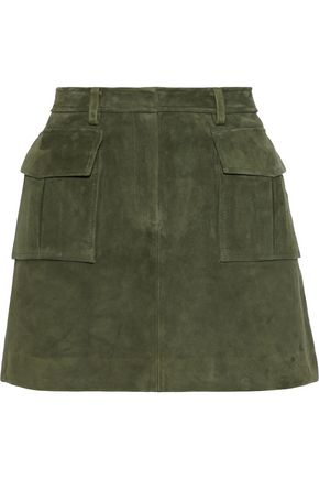 THEORY Lupah suede mini skirt
