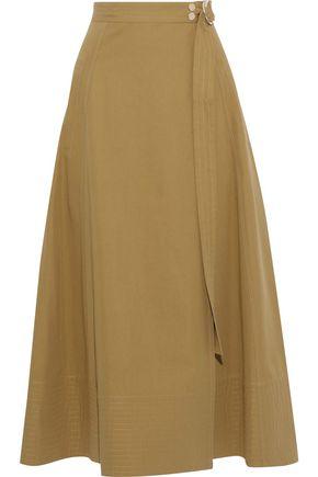VANESSA BRUNO Ikla cotton-blend twill midi wrap skirt