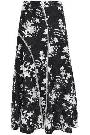 GOEN.J Lace-trimmed fil coupé maxi skirt