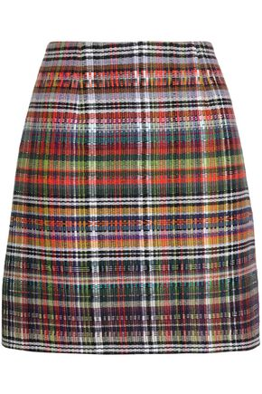 GOEN.J Checked woven mini skirt