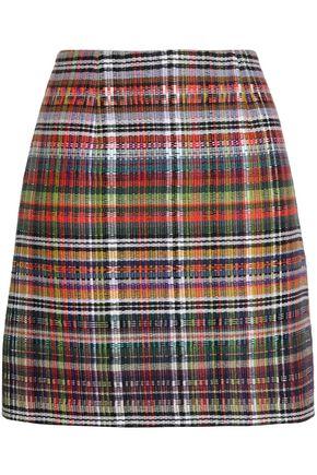 GOEN.J Checked woven mini skirt