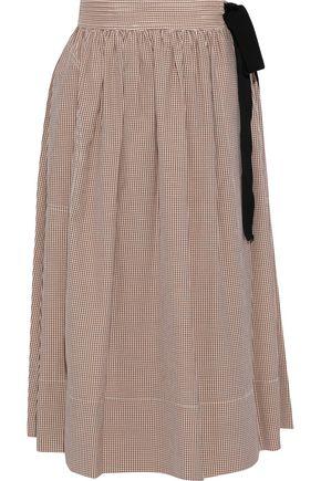 VANESSA BRUNO Checked woven wrap skirt