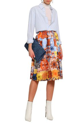 ACNE STUDIOS Printed satin midi skirt