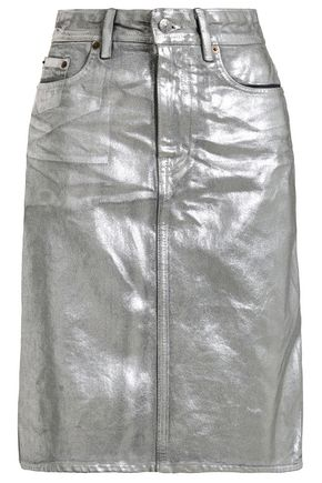 ACNE STUDIOS Metallic coated denim skirt