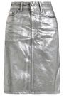 ACNE STUDIOS Metallic denim skirt