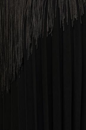 MARCO DE VINCENZO Fringed plissé cady skirt