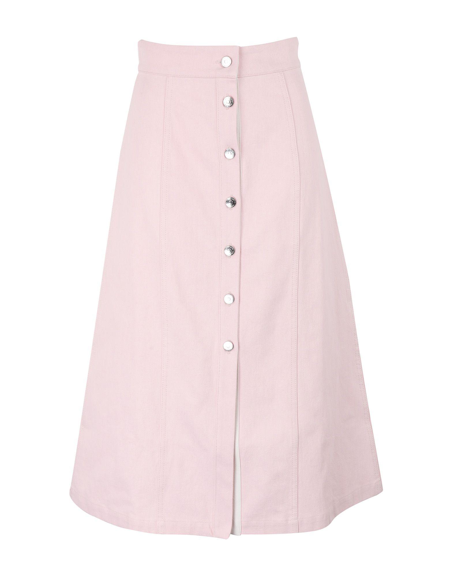 《セール開催中》?TRE C?CILE レディース デニムスカート ピンク XS コットン 100% DENIM CELESTE SKIRT