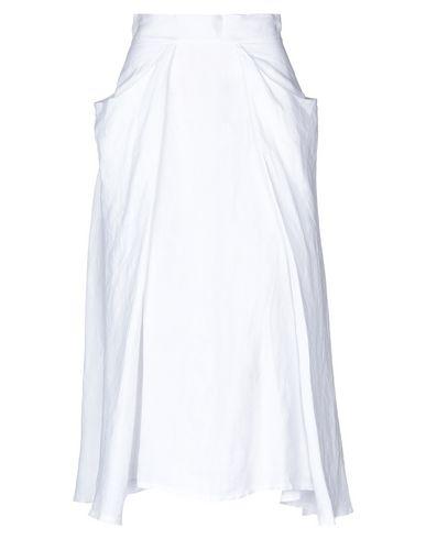Фото - Юбку длиной 3/4 от SAINT TROPEZ белого цвета