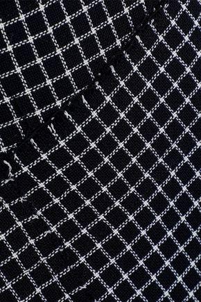 JASON WU Wrap-effect checked wool midi skirt
