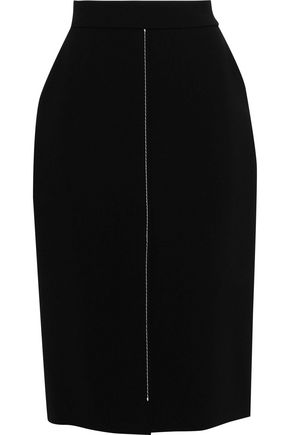 JASON WU Topstitched crepe pencil skirt