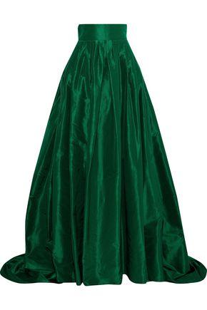 be8177a8db CAROLINA HERRERA Flared pleated silk-taffeta maxi skirt