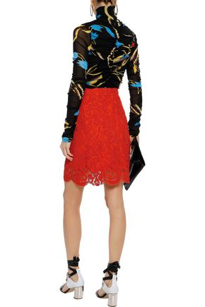 PROENZA SCHOULER Cotton-blend corded lace skirt