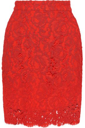 PROENZA SCHOULER Cotton-blend corded lace skirt