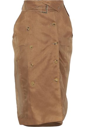 MAX MARA Dindy belted silk-organza skirt