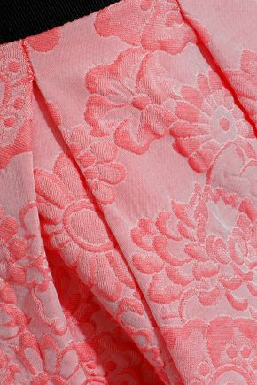 ERDEM Ari pleated jacquard skirt