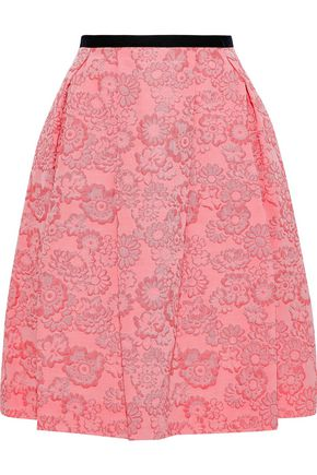 ERDEM Ari pleated jacquard skirt