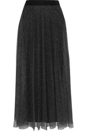 CHRISTOPHER KANE Gathered metallic tulle midi skirt