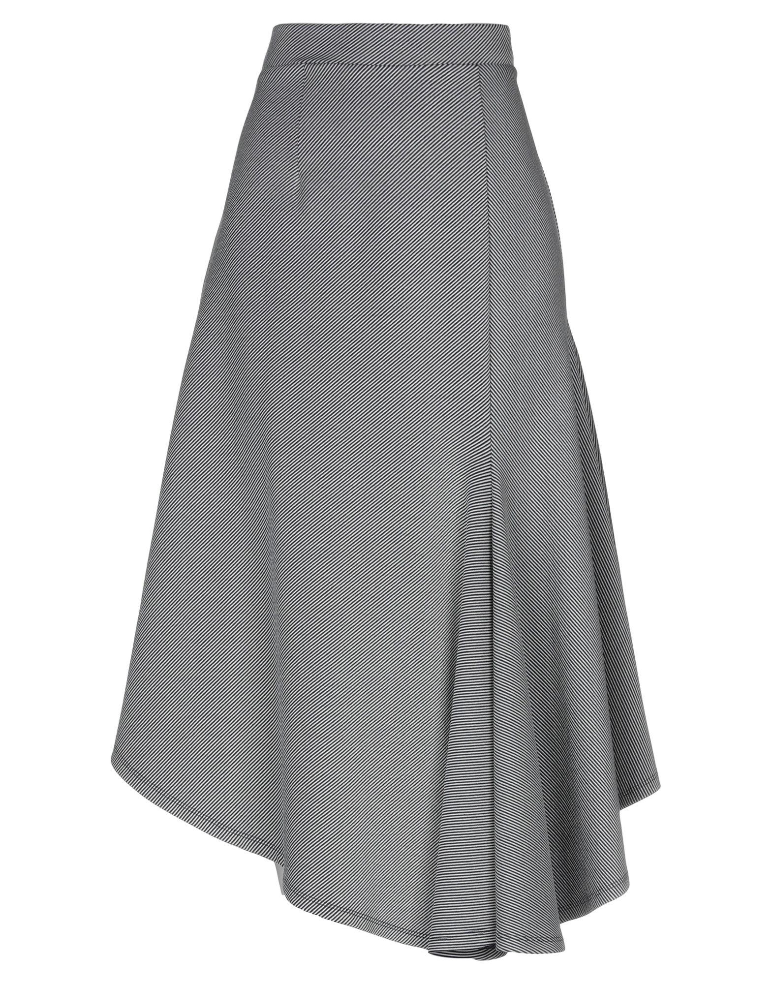 《期間限定セール中》SID NEIGUM レディース ひざ丈スカート ブラック 2 コットン 71% / ナイロン 23% / ポリウレタン 6%