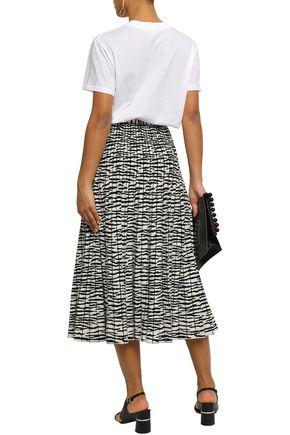 PROENZA SCHOULER Pleated stretch-knit midi skirt