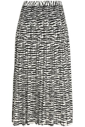 PROENZA SCHOULER Pleated stretch-knit midi skirt