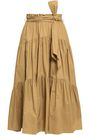 PROENZA SCHOULER Belted cotton-poplin midi skirt