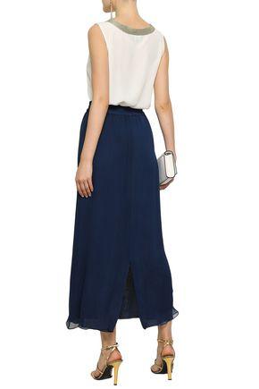 EMPORIO ARMANI Silk-chiffon maxi skirt