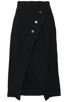 KITX Button-embellished twill skirt