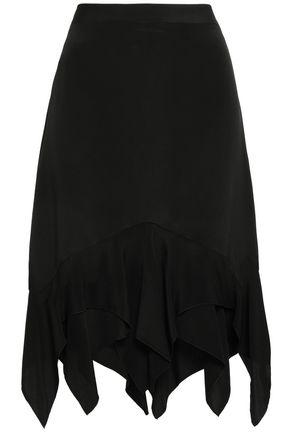 KITX Layered silk crepe de chine skirt