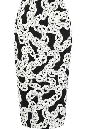 78958b4e4 DIANE VON FURSTENBERG Kara printed stretch-cady pencil skirt