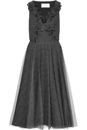 CHRISTOPHER KANE Embellished metallic tulle midi dress