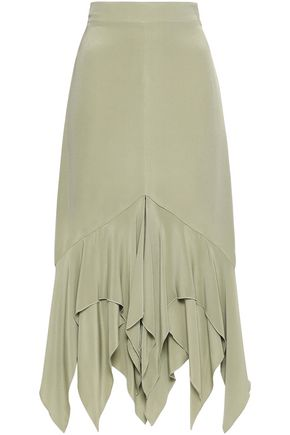 KITX Layered silk crepe de chine skirt
