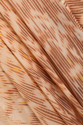 KITX Asymmetric printed silk-chiffon midi skirt