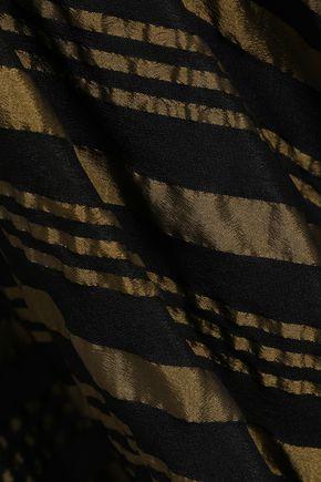 KITX Asymmetric printed silk-blend crepe de chine midi skirt