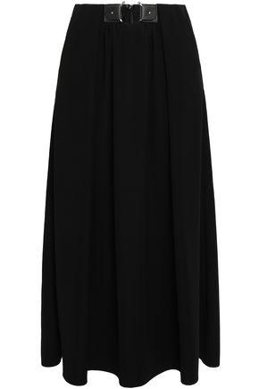 GIORGIO ARMANI Embellished crepe midi skirt