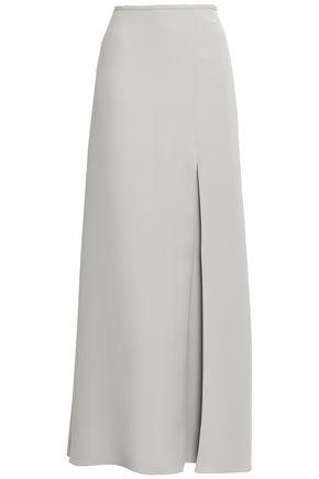 GIORGIO ARMANI Silk-crepe maxi skirt